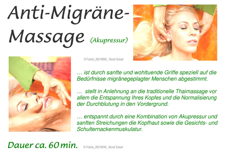 Anti-Migräne Massage