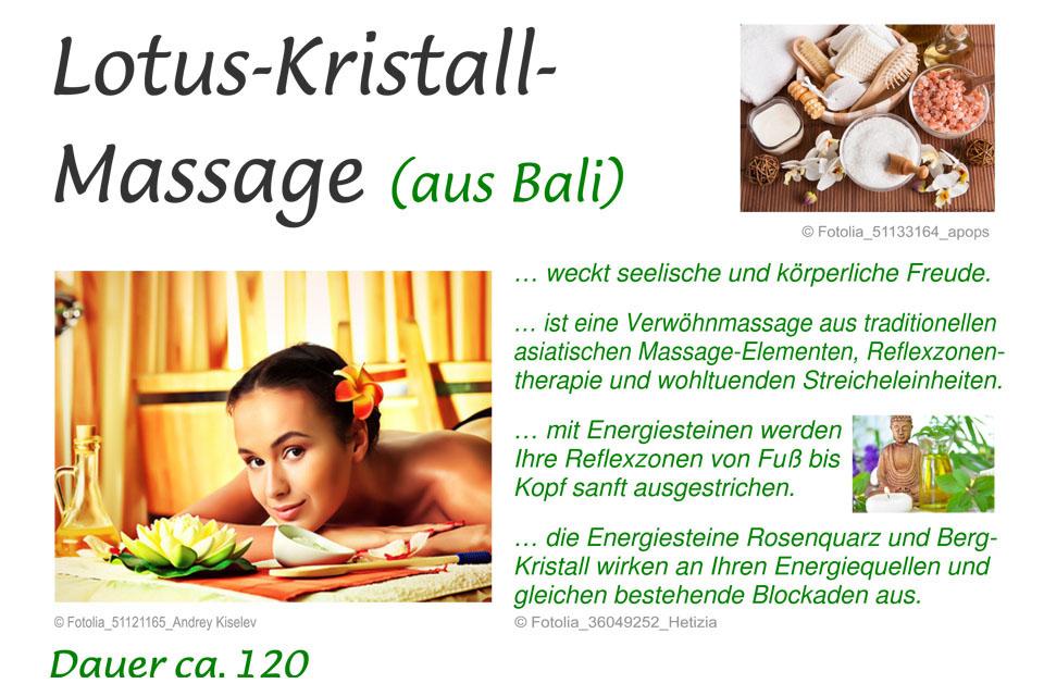 Lotus-Kristall Massage