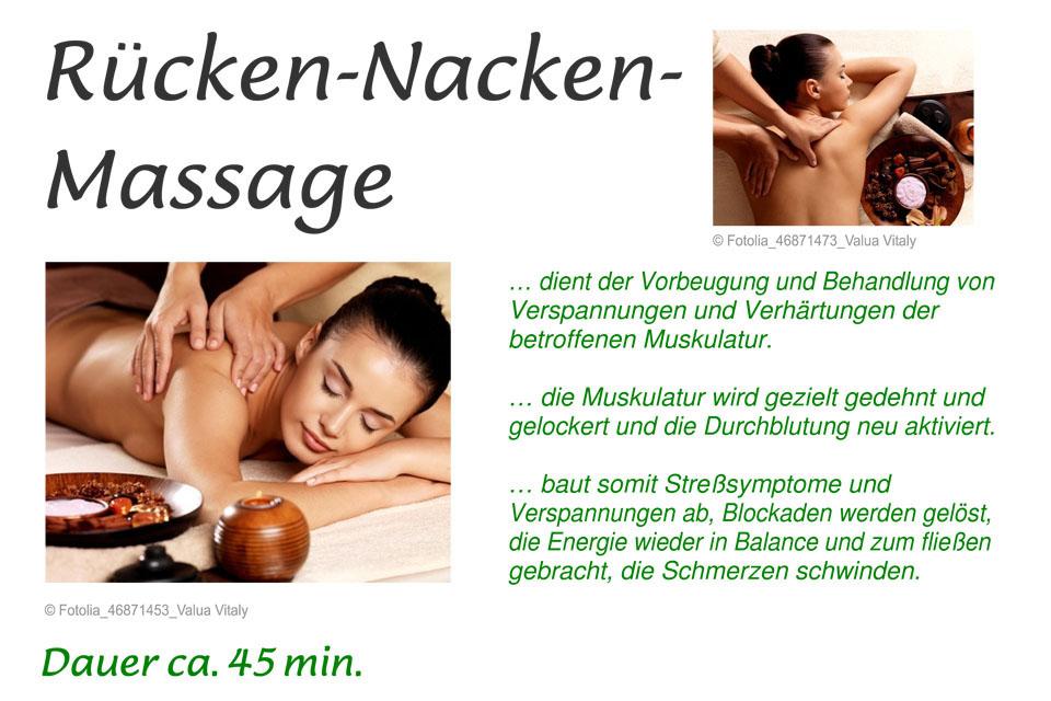 Rücken-Nacken Massage