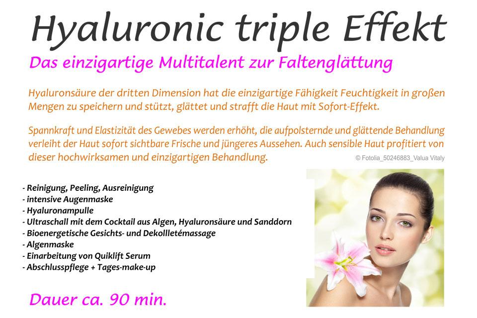 Hyaluronic triple Effekt