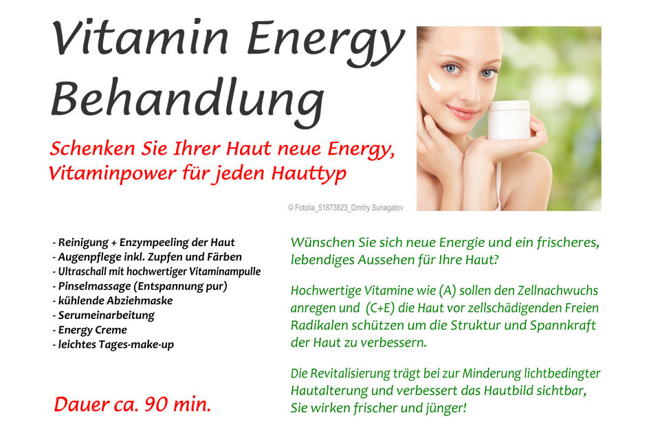 Vitamin Energy Behandlung