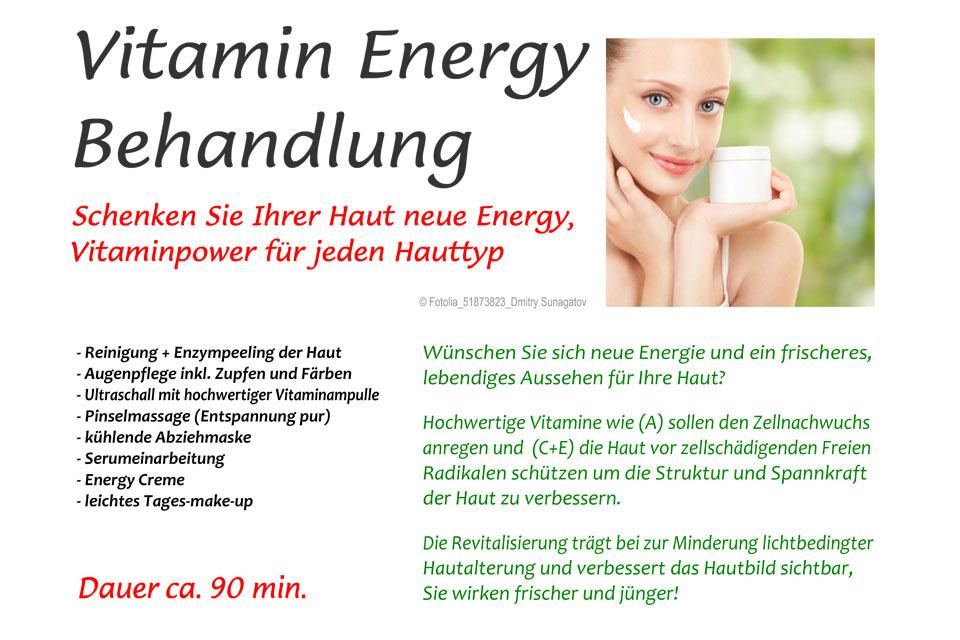 Vitamin Energy Behandlung